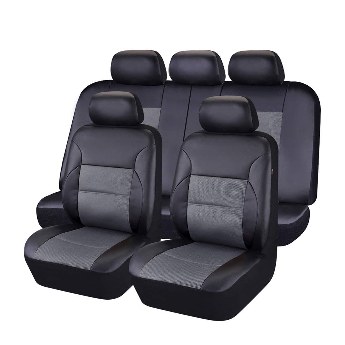 Airbag kompatibel mit 5 mm Composite Schwamm Innen Beige CAR PASS 11 LUXUS PU-Leder Automotive Universal Sitzbez/üge Set package-universal Passform f/ür Fahrzeuge