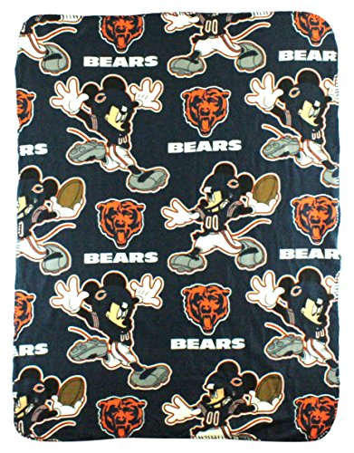 The Northwest Company NFL Chicago Bears Mickey Mouse Character Fleece Throw, 40 x 50-inches