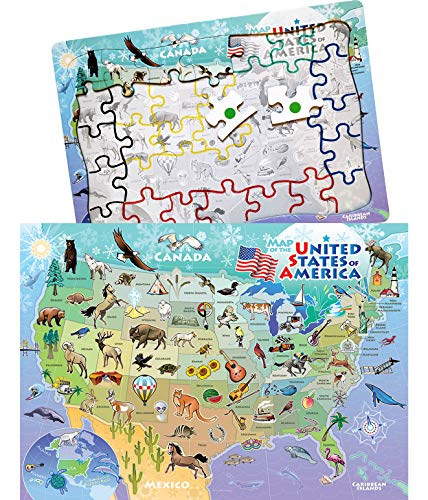 Keeping Busy USA Map 35 Piece Sequenced Jigsaw Puzzle Engaging Activities/Puzzles/Games for Dementia and Alzheimer's by Keeping Busy for Older Adults - Usa Activity