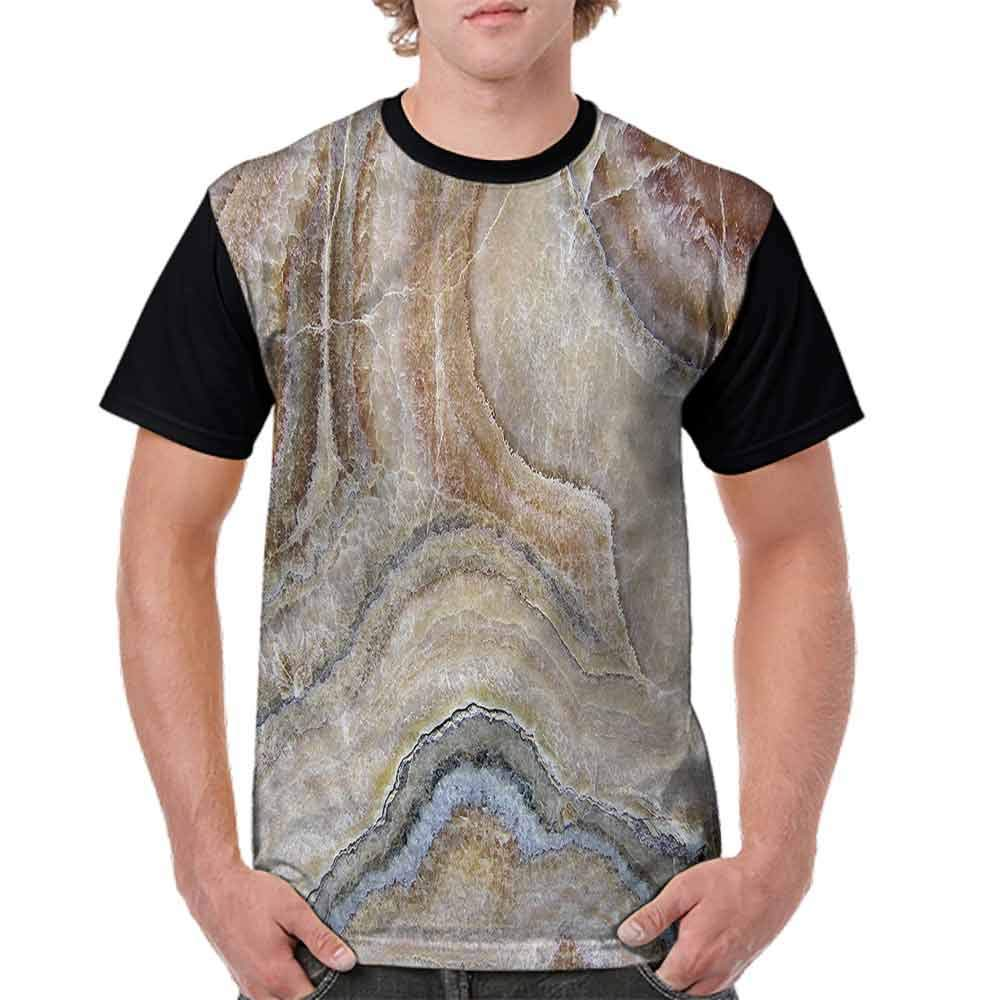 Round Neck T-Shirt,Surreal Onyx Surface Fashion Personality Customization