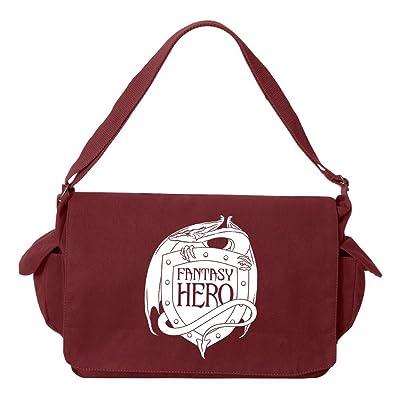 Tenacitee Fantasty Hero Brushed Canvas Messenger Bag