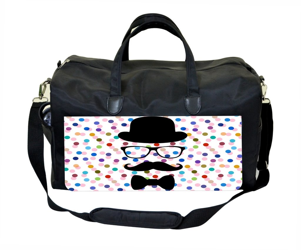 Hipster Face on Polka Dots Therapist Bag