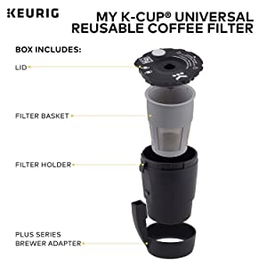 Keurig My K-Cup Universal Reusable Ground Coffee Filter, Compatible with All Keurig K-Cup Pod Coffee Makers (2.0 and 1.0) (Color: Limited Edition)