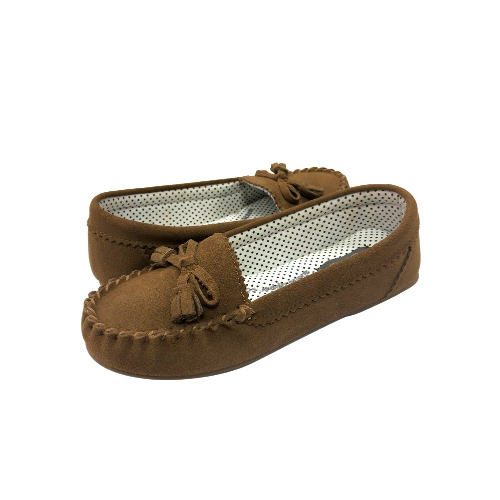 RealFancy Moccasin Slippers for Women Flat Casual Comfortable Loafer Shoes Womens Moccasin Slippers Spring Driving Moccasins Shoes (10 B(M) US, Tan)