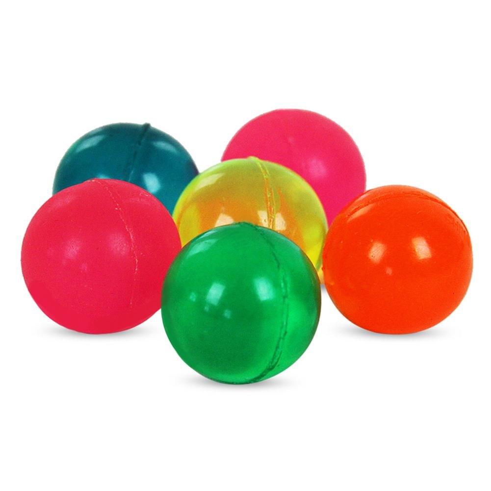 36 x HC-Handel 916506 6er Set Flummis Flummi Flummiset Clearfully Ball Bunt Hüpfball im Netz - sortiert - 25 mm