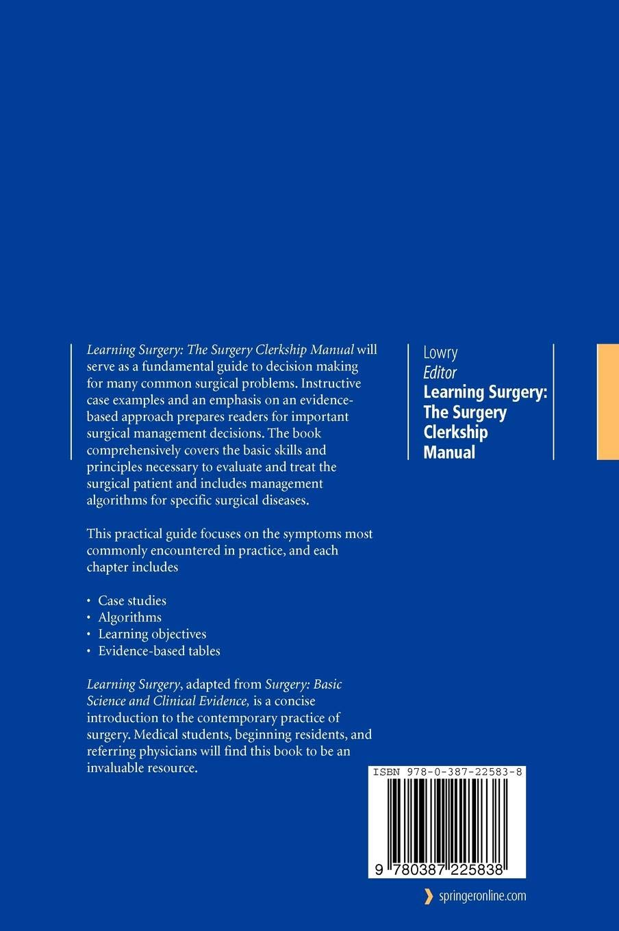 Download PDF Learning Surgery: The Surgery Clerkship Manual