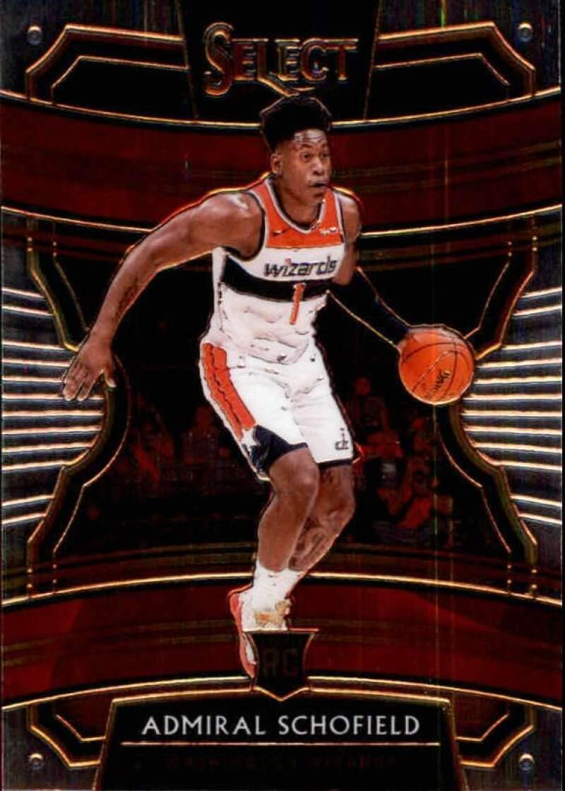 2019-20 Panini Select #6 Admiral Schofield Washington Wizards RC Rookie NBA Basketball Trading Card
