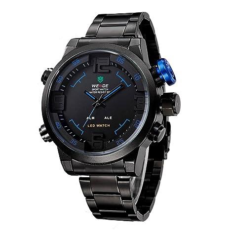 WEIDE militares relojes hombres marca de lujo LED Analog-Digital Display reloj deportivo reloj de
