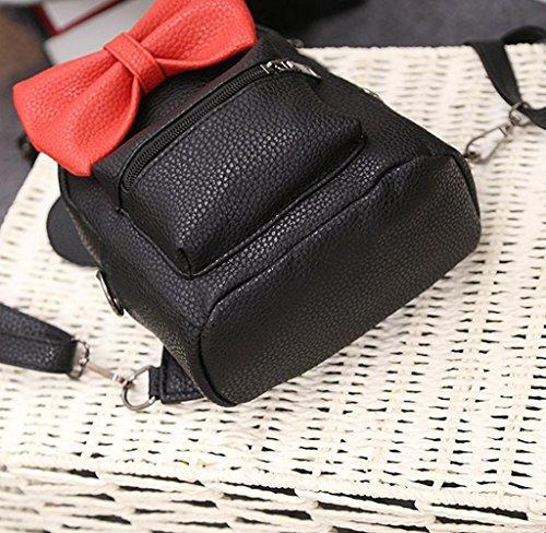 Mochila Linda almacenamiento grande, Holacha Bolso de mano Backpack 2 en 1 Elegante Retro para chicos chicas (verde)