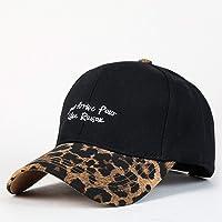 POIUIU Gorra De Béisbol,Carta De Moda Bordados Leopard