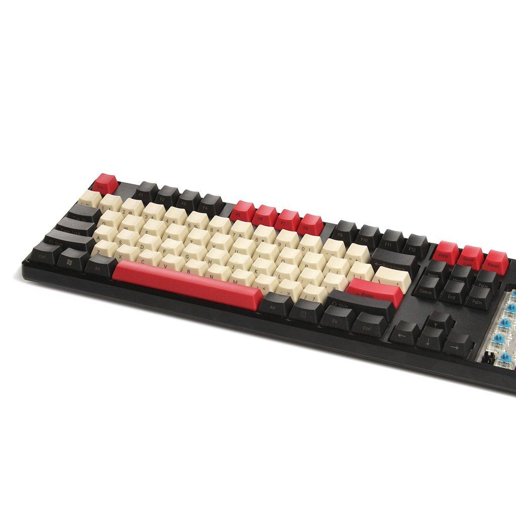 YMDK 108 87 61 Estilo Vintage PBT OEM Perfil Keycap para 104 TKL 60% MX interruptores mecánicos Teclado de Juego 87 Side Print: Amazon.es: Electrónica