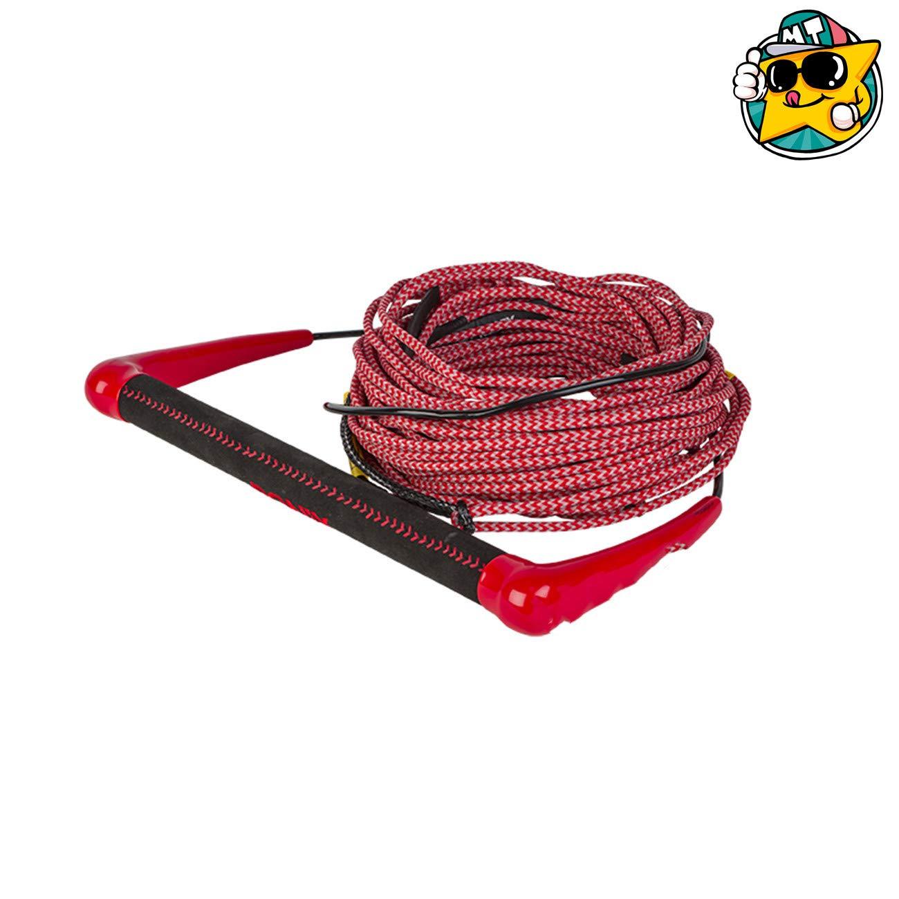 21メートルの赤ワインディングを防ぐために耐久性のある水上スキーモーターボート水上スキー牽引ロープ