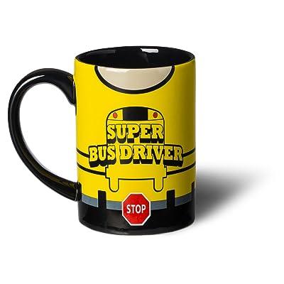 Super Bus Driver Superhero Mug