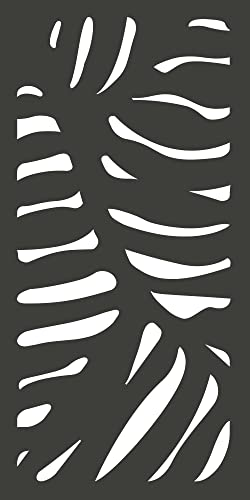 MODINEX Decorative Screen Panel – Cabo Design – 2 ft. x 4 ft. Size – Charcoal – 80 Privacy