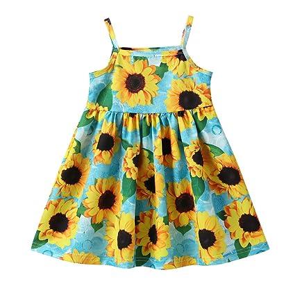 Koojawind Niño Bebé Niños Niñas Correa Girasoles Vestido De