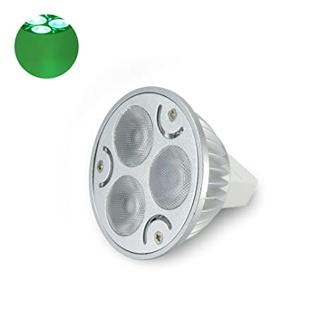 DEMASLED - 3W MR16 GU5.3 Spotlight LED Light Bulb - GREEN -AC/DC12V 300mA - - Amazon.com