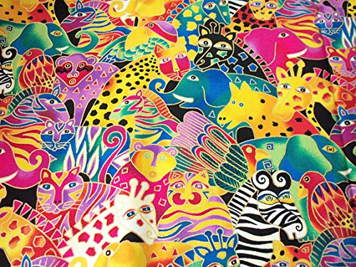 laurel-burch-fabric-mythical-jungle-bright-colors-metallic-trim-throughout-gorgeous-by-fat-quarter-n