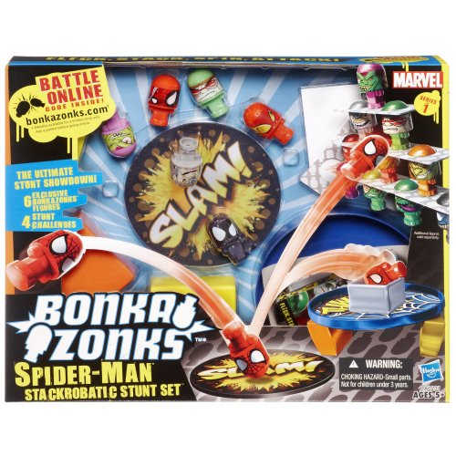 Bonkazonks Marvel Series 1 Spider-Man Stackrobatic Stunt Set