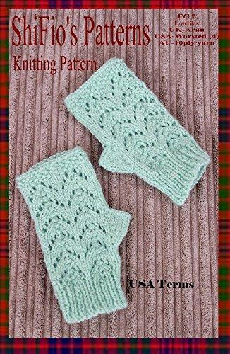 Knitting Pattern-KP399-Ladies fingerless gloves-USA Terminology