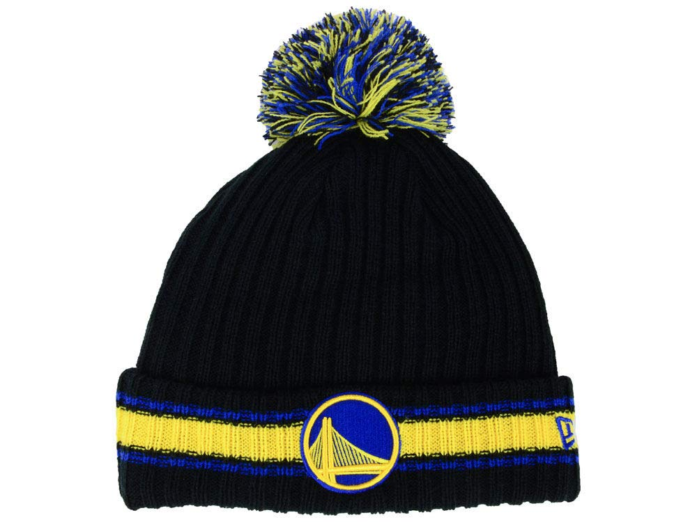 18e27c5c36fa17 Amazon.com : New Era Atlanta Hawks Chunky Cuff Beanie Hat with Pom Pom -  NBA Cuffed Winter Knit Baskteball Cap : Clothing