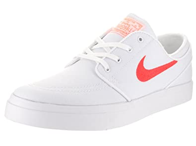 Nike Unisex SB Zoom Janoski Canvas Cpsl White/Max Orange/White Skate Shoe 9