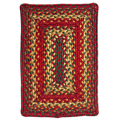 Homespice Rectangular Tablemat Jute Braided Rugs, 10-Inch by 15-Inch, Cider Barn