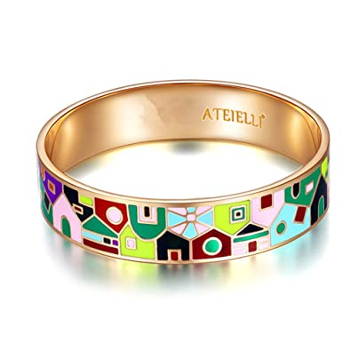 High Quality Enamel Bracelet. Beautiful Colours and Patterns. Very fashionable ME27 QWPxbftTS
