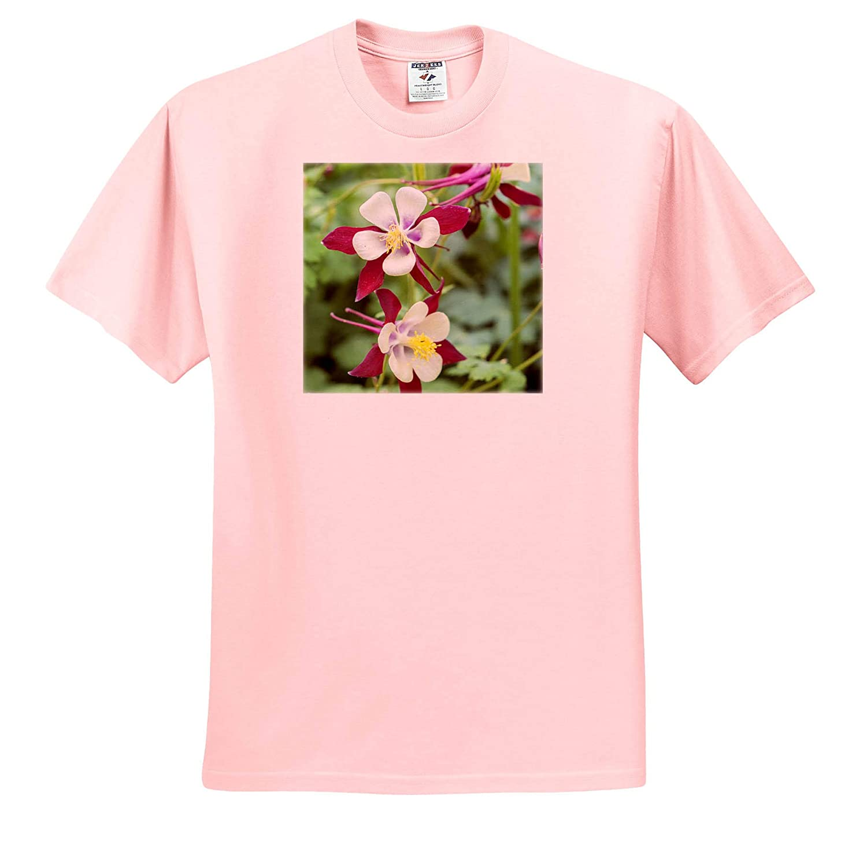 Flowers Columbine Flowers ts/_313909 Adult T-Shirt XL 3dRose Danita Delimont