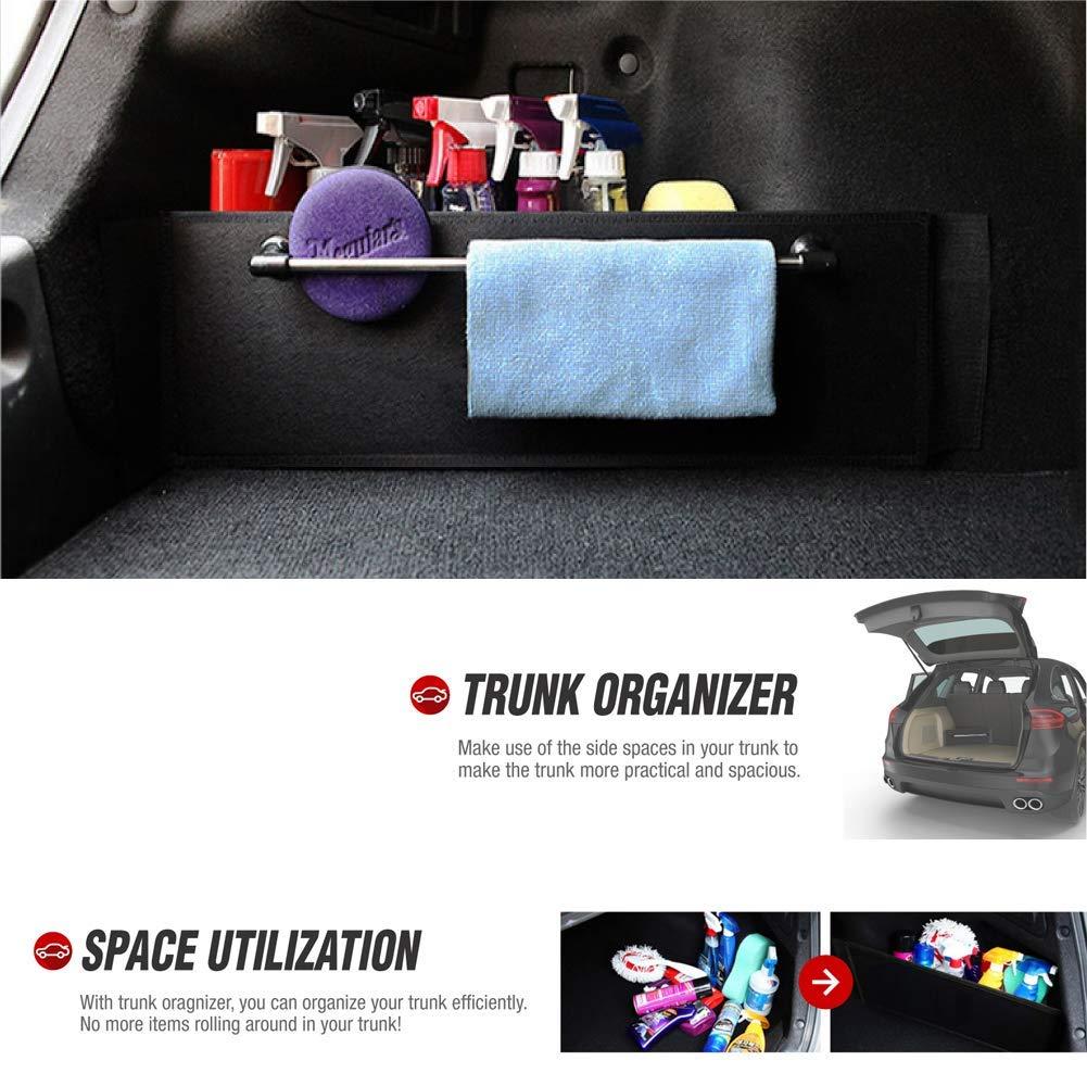 Black//2PK or Minivan 22.4 x 7.08 inches RED SHIELD Auto Trunk Organizer for Car SUV