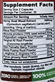 100 Naturals Horny Goat Weed Extract with Maca Root and Tongkat Ali, Natural Libido Boost for Men & Women - 1000mg Epimedium & 10mg Icariin Per Serving - Enhance Performance & Stamina (60 Caps)
