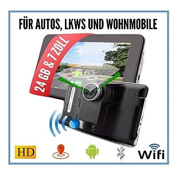 7 Zoll Navigationsgerät mit Rückfahrkamera für LKW PKW Wohnmobile Freisprechen