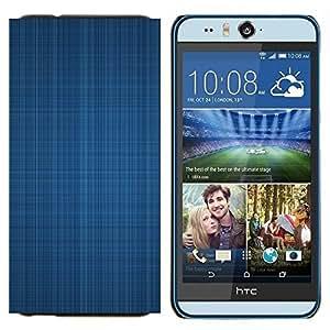 YiPhone /// Prima de resorte delgada de la cubierta del caso de Shell Armor - Textura azul de la tela - HTC Desire Eye M910x