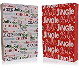 Emraw Santa-Themed Gift Boxes with Lids Assortment of Christmas Boxes with Holiday Themes (4-Pack)