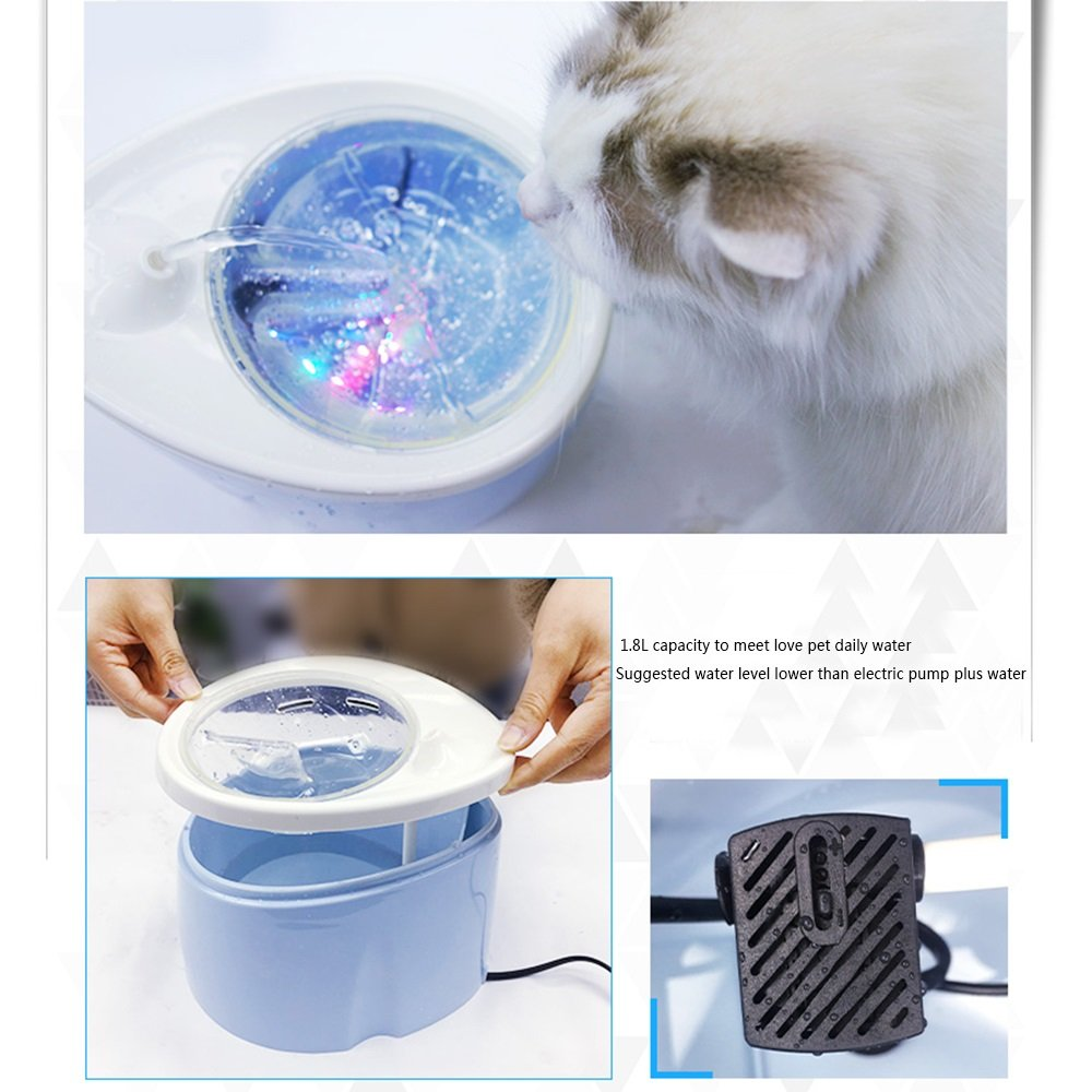 Distributore Distributore Distributore di acqua per gatti, distributore di acqua per animali domestici, dispositivo di filtraggio automatico della circolazione dell'animale domestico, attrezzatura per bere gatti e cani | Design professionale  | acquistare  | marche  | Promozion e07282