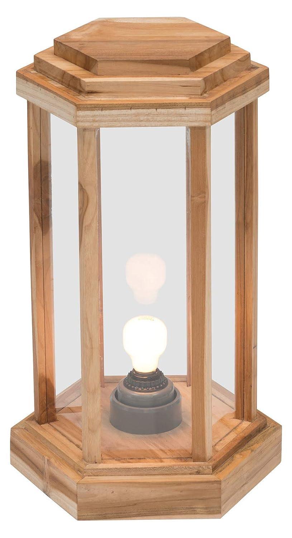 Amazon.com: Zuo - Lámpara de pie moderna de madera de teca y ...