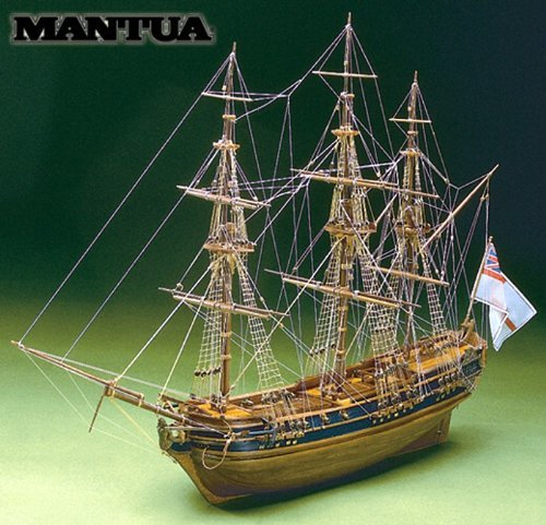 MT0792 ??Mantua company wooden sailing ship model kit President (60 minutes of sailing ship modeling introductory DVD and Book included) Wooden Model Company