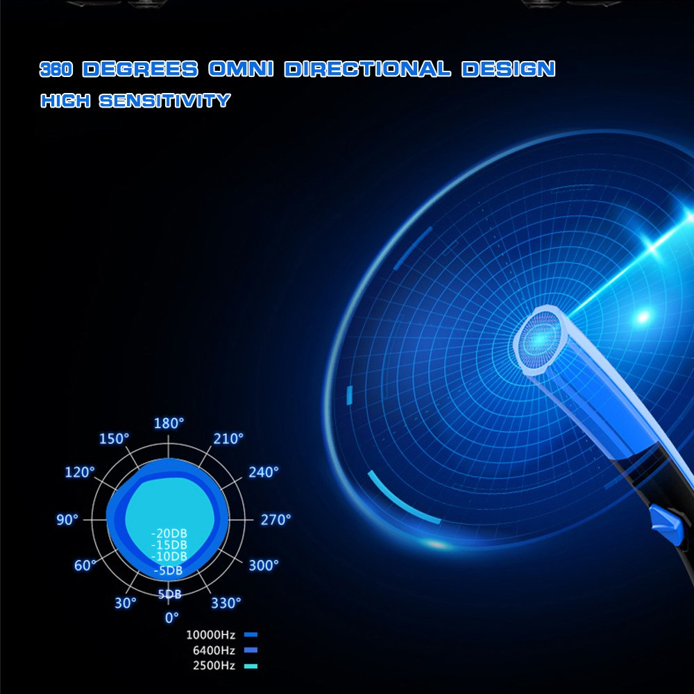 KKmoon COOL COLD Einstellbare Tischmikrofon Mic Stand USB Powered Plug und Play mit Schaumstoff Cover LED Licht f/ür Computer Laptop PC Mac Online Chatting Recording Gaming