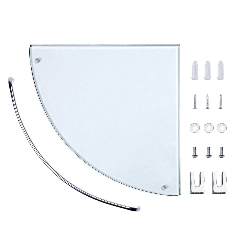 Bathroom Tempered Glass Corner Shelf, Vdomus Stainless Steel Shower ...