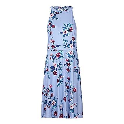 Vestidos Mujer Verano Vestido Sexy Mujer Verano Mini Vestido De Fiesta Largo Maxi Vestido De Verano Estampado Boho para Mujer: Amazon.es: Ropa y accesorios