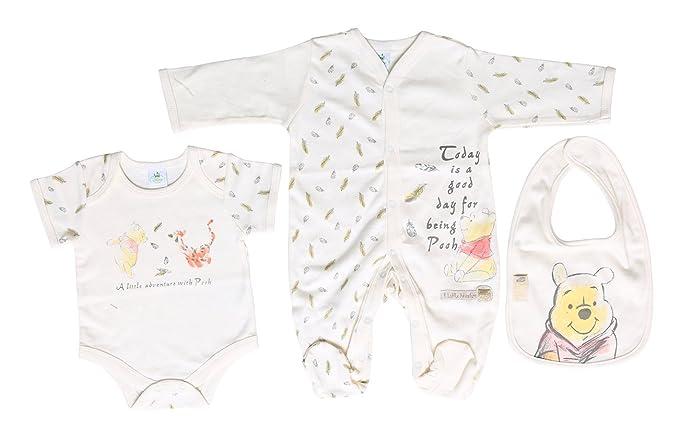materiale selezionato sfumature di Raccogliere Set neonato con bavaglino, body e tutina di Winnie the Pooh ...