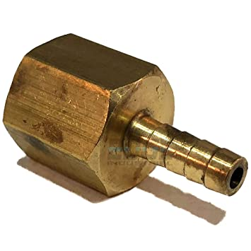 EDGE INDUSTRIAL 3//4 Hose ID to 1//2 Female NPT FNPT Straight Brass Fitting Fuel Water Qty 01 WOG AIR Oil Gas