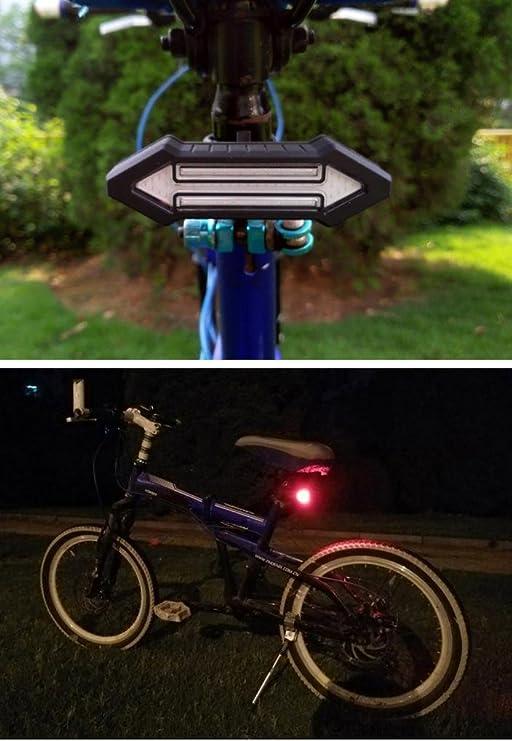 gaddrt luz señal de giro para bicicleta luz trasera luces de ...