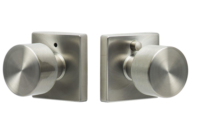 Door Knobs square door knobs pics : Sure-Loc Hardware BG102-SQ 32D Bergen Square Privacy Knob, Satin ...