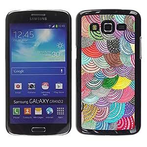 Be Good Phone Accessory // Dura Cáscara cubierta Protectora Caso Carcasa Funda de Protección para Samsung Galaxy Grand 2 SM-G7102 SM-G7105 // Barets Curcular Pattern Hand