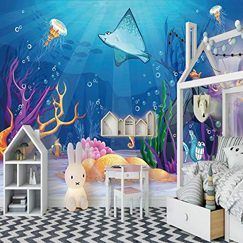 Wall Mural Removable Wallpaper Underwater World Bedroom Beautiful 3d View Pattern Removable Wallpaper Peel And Stick Wall Stickers 250x175cm