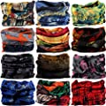 VANCROWN Headwear Head Wrap Sport Headband Sweatband 220 Patterns Magic Scarf 12PCS & 6PCS 12 in 1