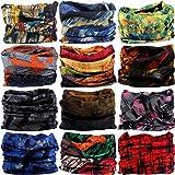 VANCROWN Headwear Head Wrap Sport Headband Sweatband 220 Patterns Magic Scarf 12PCS & 6PCS 12 in 1 by