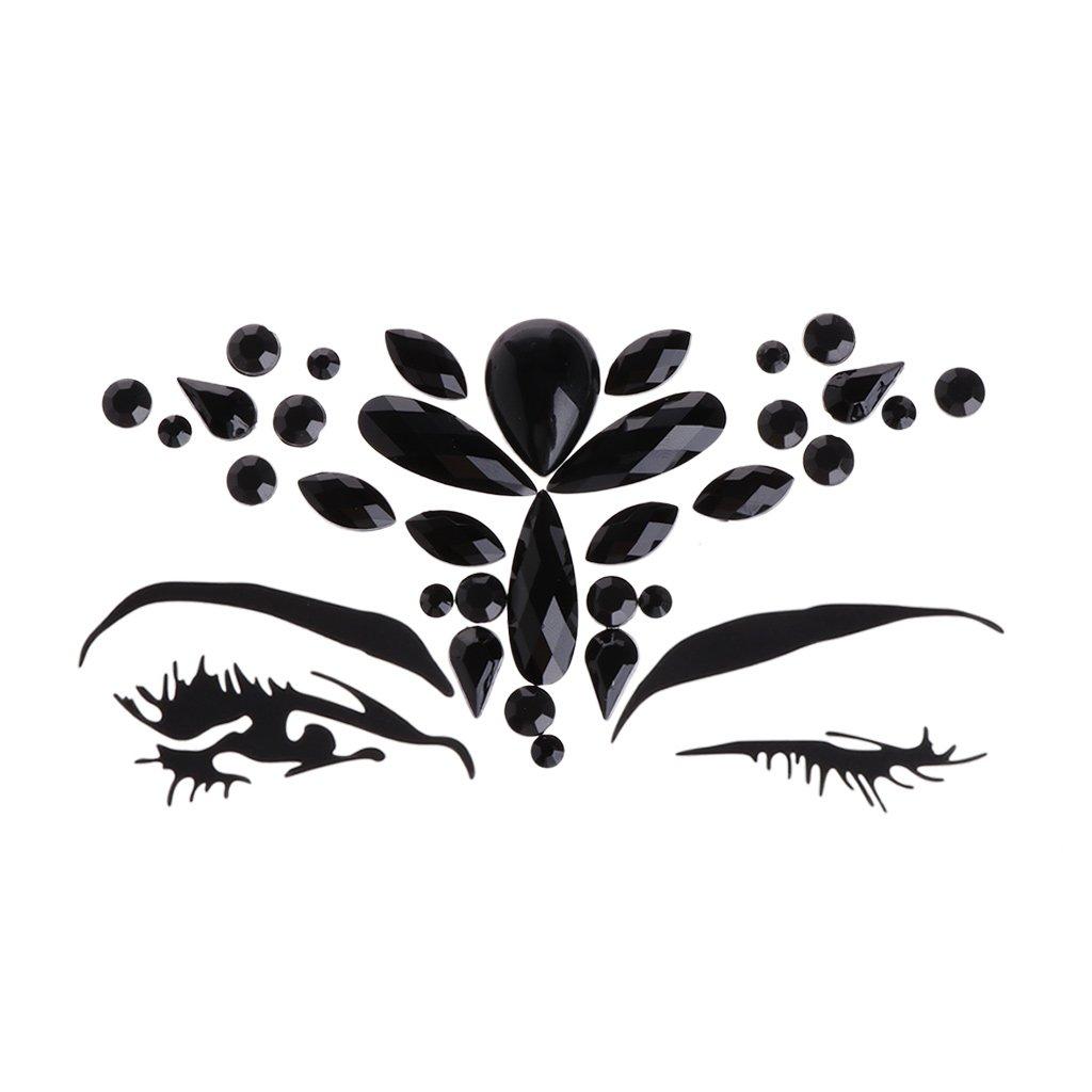 Thobu Face Eye Jewel Acrylic Body Art Sticker Tattoo Pearl Decor for Party Performance 4