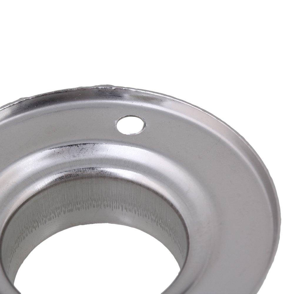 Mxfan acero inoxidable, 25 mm de di/ámetro, 10 unidades Soporte para barra de armario