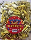 Gold Foil Blowout Noisemakers Birthday Anytime Party Favours Value Pack 144 Pk